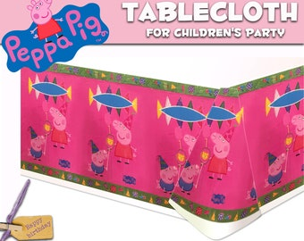 Peppa Pig tablecloth 1 pcs. Tablecloth for children's holiday,party or birthday. Set for children's party or birthday. Peppa Pig party.