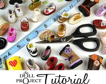 Tiny Doll Shoe PDF Tutorial Make 28mm Shoes for Lati Yellow Blythe Pukifee Dolls