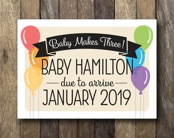 Pregnancy Announcement Card - Printable Pregnancy Reveal - Personalized Pregnancy Announcement