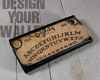 Womens Wallet, bi-fold wallet, Ouija, board game, gothic, wallet, women's gift, mothers day, horror, scary, spirit board, Ouija wallet