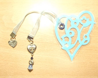 Heart bookmark, handmade.