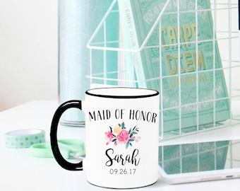 Maid of Honor Mug, Maid of Honor Gift, Bridesmaid Proposal Mug, Bridesmaid Mug, Bridal Party Gift, Bridesmaid Gift, Maid of Honor, Wedding