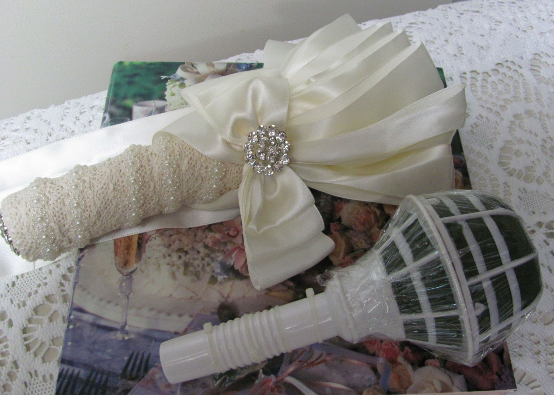 Bridal Bouquet Handle, Wedding Bouquet Holder, Diy Bouquet Holder Includes Flower -6781