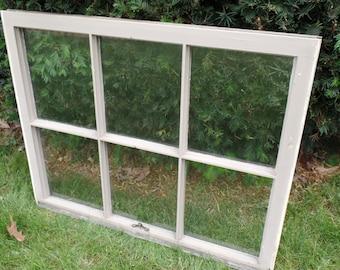 Vintage Six Pane Window, antique window, vintage window, antique window decor, vintage window decor, window frame art, window pane frames