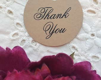 Printed Favor Tags  | Thank You Tags  | Thank You | Printed Favor Tags | Thank You COLLECTION - 100 Tags - Style T06