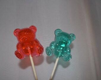 1 Dozen Teddy Bear Lollipop Baby Shower Gender Reveal Party Birthday Party Favor