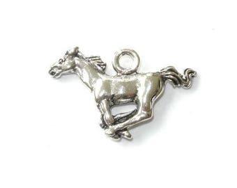 Antique silver horse charm