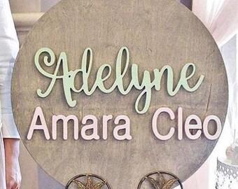 Custom Baby Name Sign for Nursery