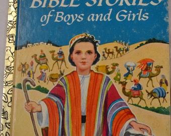 Vintage Children's Book Bible Stories of Boys and Girls Little Golden Book