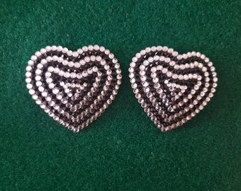 Crystal heart pasties white/jet black