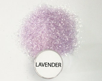 Reneabouquets Chunky Glitter Glass ~ Lavender Choose Your Size .5 oz Jar or 2 oz Jar