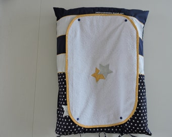 Matching set including changing mat, cover two baskets, a wreath & two bibs available