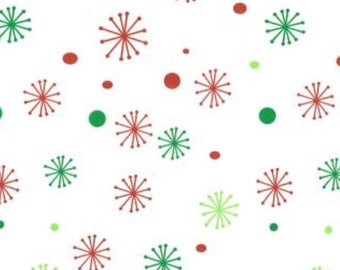 """Season's Greetings Christmas Gift Wrap Wrapping Paper Green Red Xmas Decorations Colourfast (Pack of 5) 30x20"""" / 750x500mm"""