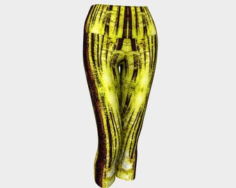 Pine Forest in Yellow Yoga Capris