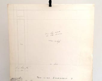 Letter i, industrial drawing, original font casting drawing, typographic drawing: Two Line Bourgeois. 1954.