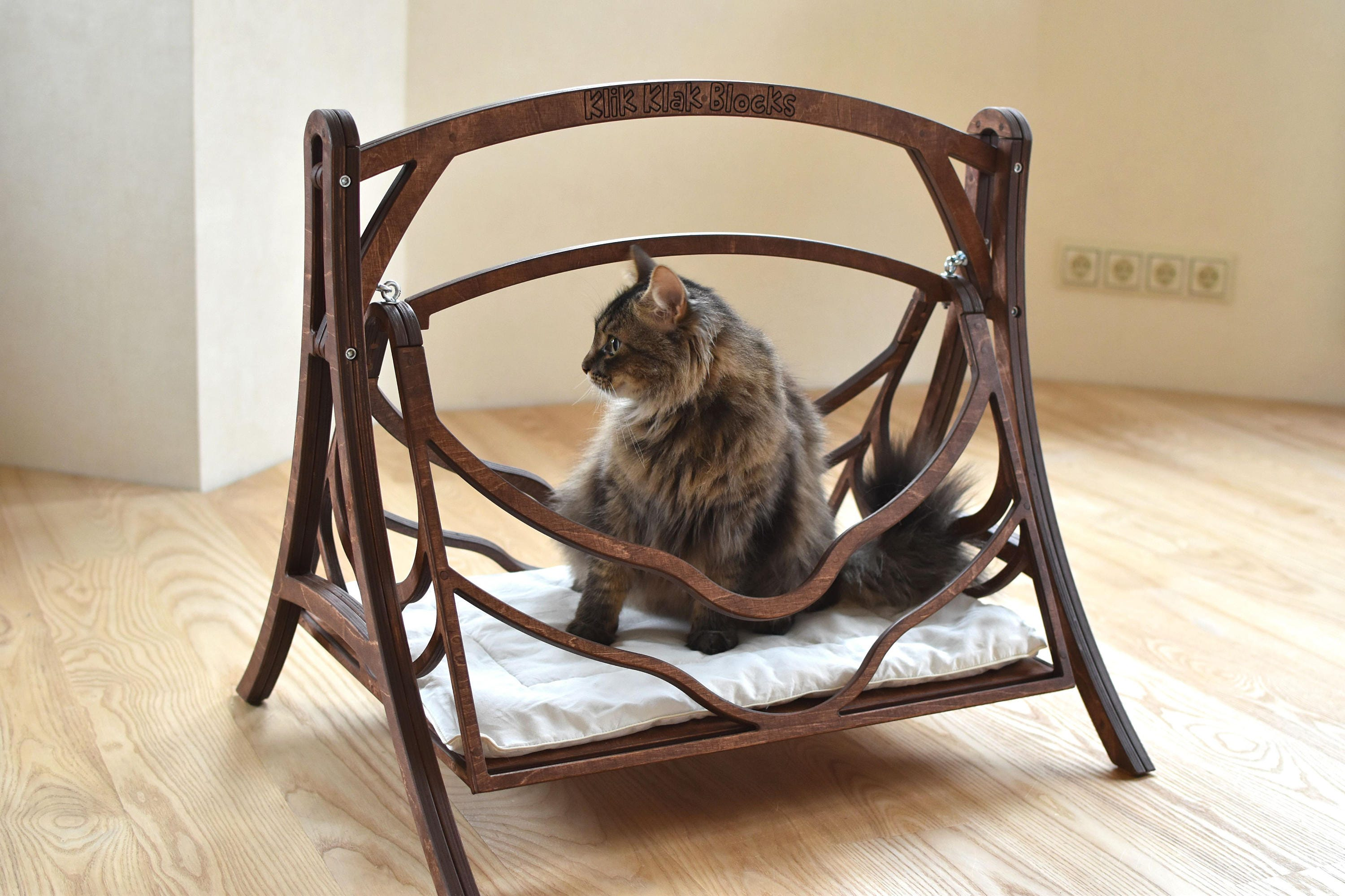 product condo tree tower affordable deluxe bedroom ja lounge type acacia modern description kitten wood house hammock cat accent with scratcher go chair furniture living to room