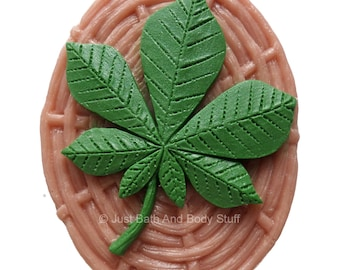 Leaf on Basket Handcrafted Novelty Soap Bar by Just Bath And Body Stuff / JBABS