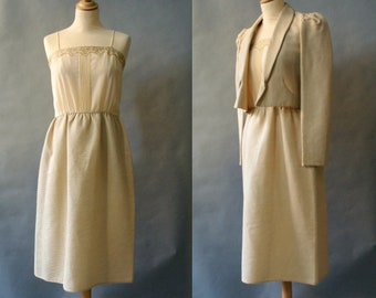 Cream 1950s Dress and Jacket