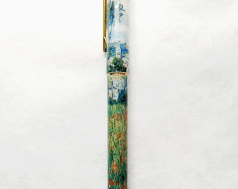 New! Impressionist Pens! Monet Field of Flowers! Unique gift for men, women and anyone who loves art!
