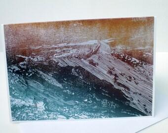 Wales Snowdonia art card - Y Lliwedd landscape greetings card