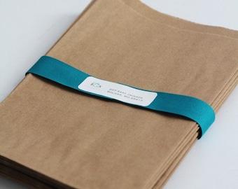Kraft Paper Bags Lot of 100 6 1/4 x 9 1/4