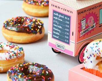 Donut Food Truck - Donut Party, Doughnut, Cupcake Holder, Donut Favor Box, Party Favor Box, Gift Card, Donut Party Favor, I'm Donuts for You