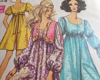 Vintage 1960's Simplicity 3254 Pantdress and Bolero Sewing Pattern Size 14 Bust 36