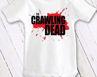 Bodysuit or Toddler Shirt, The Crawling Dead Walking Dead, Baby Bodysuit, Baby Shower Gift, Girls, Boys