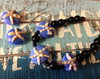 Starfish Bracelet & Earrings