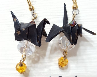 Origami Beaded Earrings
