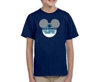 R2-D2 Shirt - Star Wars Shirt - Mickey Mouse Shirt - Disney Shirt - Disney Shirt for Boy's - Disney Kids Shirt