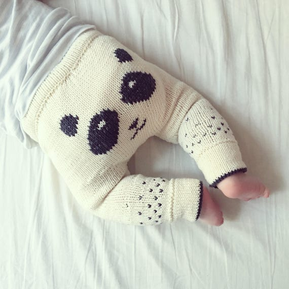 The Panda Pants - Knitting Pattern - PDF - English