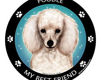 Poodle White My Best Friend Dog Magnet