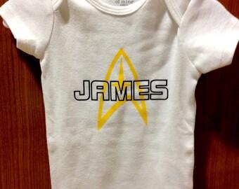 Customizable Star Trek Captain Baby Onesie