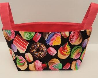 Cupcake Fabric Basket