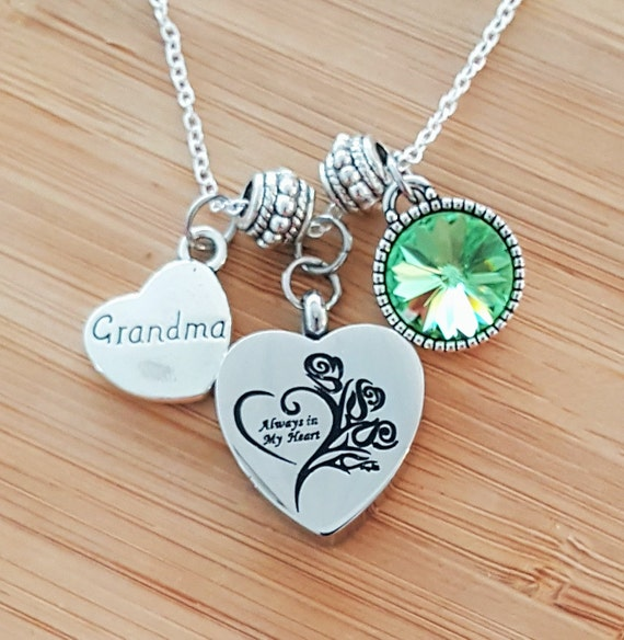 Urn Necklace Urn Jewelry Sympathy Necklace Sympathy Gift In Memory of Grandma Memorial Necklace Loss of Grandmother Remembrance Necklace