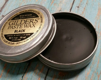 Black Gilder's Paste for Hand Stamped Jewelry, 1 oz Tin, UV and Water Resistant, DIY Tools & Supplies, Darken Impressions, Blacken Jewelry