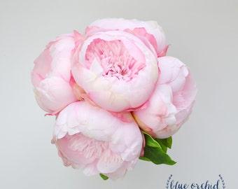 Silk Peony Bouquet, Bridesmaid Bouquet, Light Pink Peonies, Light Pink Peony Bouquet, Pink Bouquet, Silk Wedding Bouquet