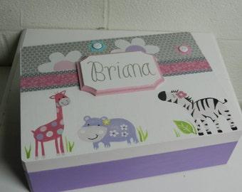 Keepsake Box/Personalized/Animals