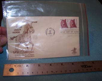 Chief Crazy Horse First Day Issue January 15, 1982 Commemorative stamp