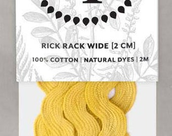 Naturally Dyed 20mm Rick Rack-Soft Yellow