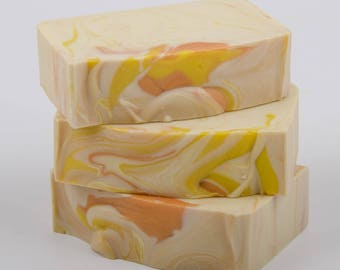 Mango Soap - Handmade Soap - Cold Process Soap - Shea Butter Soap - Natural Soap