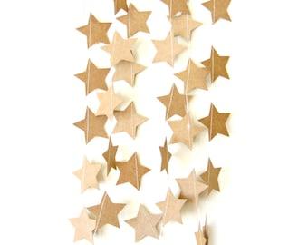Kraft Paper Star Garland - romantic home decor bright home decor, eco garland, kraft paper garland, party decor, wedding decoration