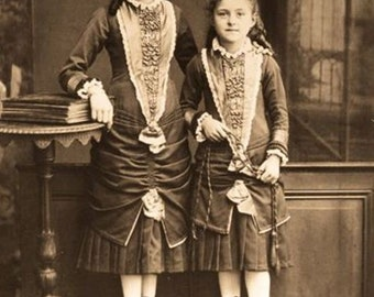 Celine and Therese Martin (St. Therese of Lisieux with her older sister) Catholic photo print