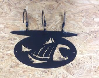 No Fear Fish Coat Rack