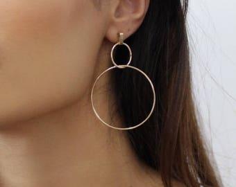 Gold Interlinked Hoop Earrings