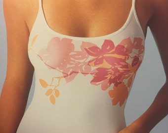Stretch Spandex Top Camisole Spaghetti Strap Camisole Floral Seamless Microfiber Undershirt Summer Tank Top Full coverage Seamless Tank Top