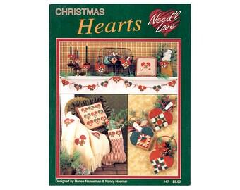 Christmas Hearts Cross Stitch Leaflet, Christmas Cross Stitch Patterns, Stockings Cross Stitch Leaflet, Hearts Cross Stitch, Heart Patterns