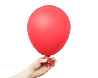 "Red Balloons - 11"" Latex Standard Balloon - 5 Balloons"