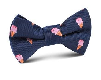 Pink berry Ice Cream Novelty Kids Bow Tie (M704-KBT) Wedding Page Boys Bowtie Bowties Ties Child Children Toddler Infant Boy